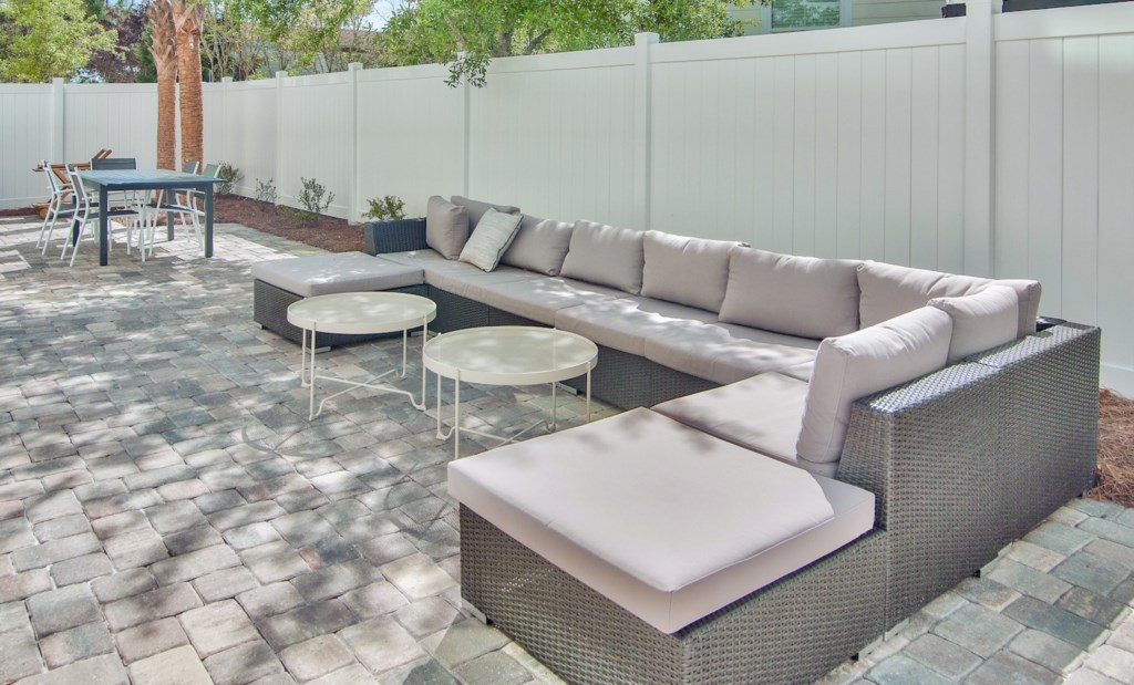Relax and enjoy drinks in your private outdoor seating area