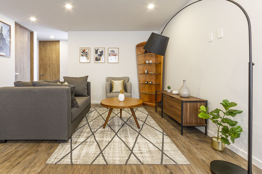 Enjoy a movie or watch cable TV, feel like home in the spacious living room