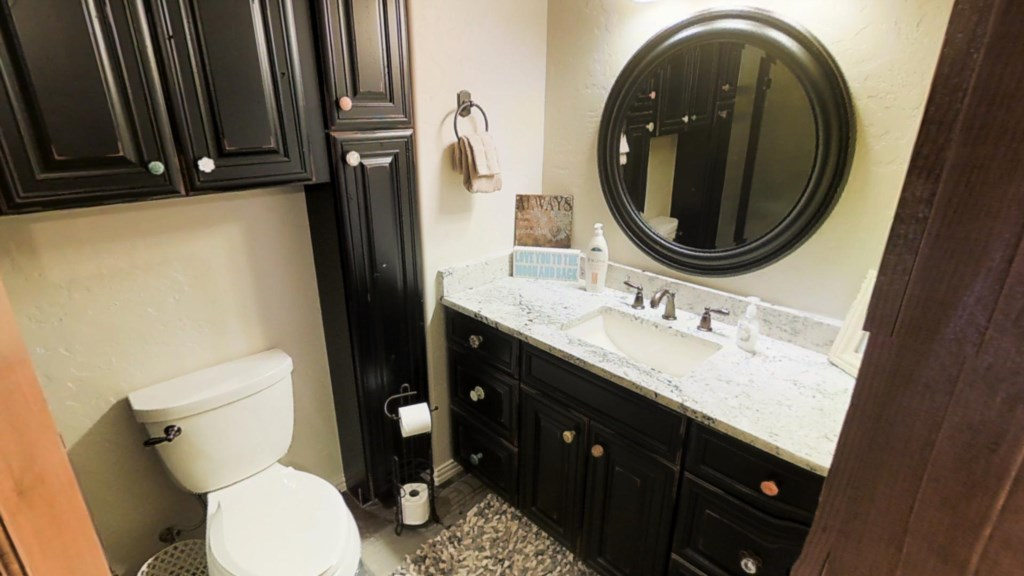 Black Cabinets in Bathroom