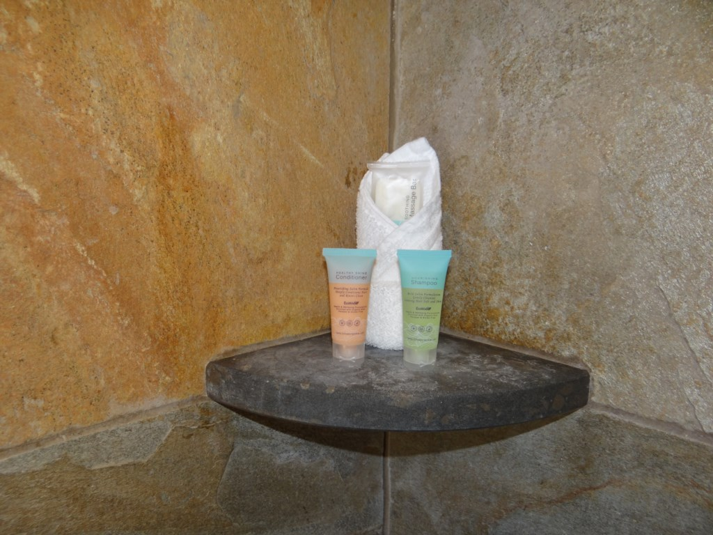 Shower products for your stay.