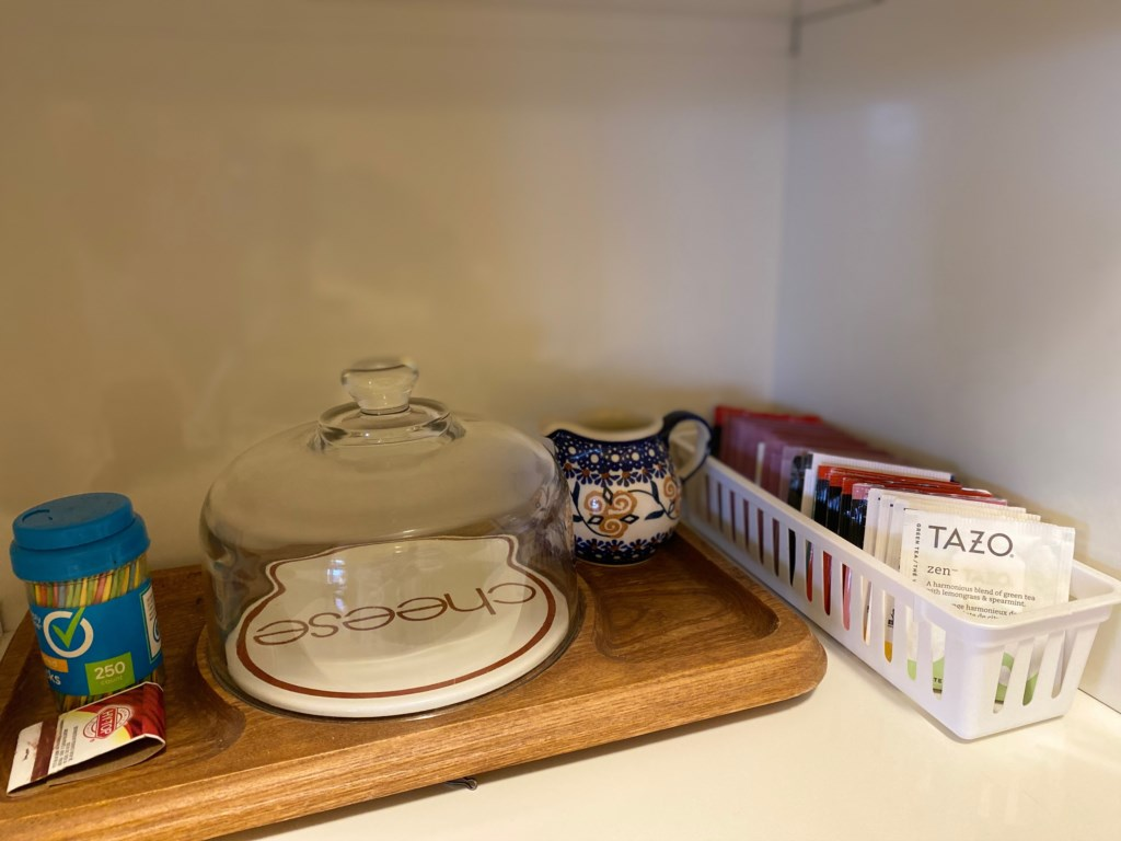 Selection of teas in the Abbey.