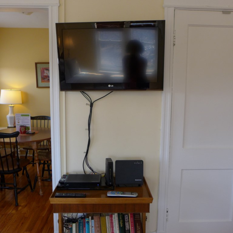 Abbey has flat-screen TV with antenna for local stations and Roku. Full dedicated internet service with WIFI