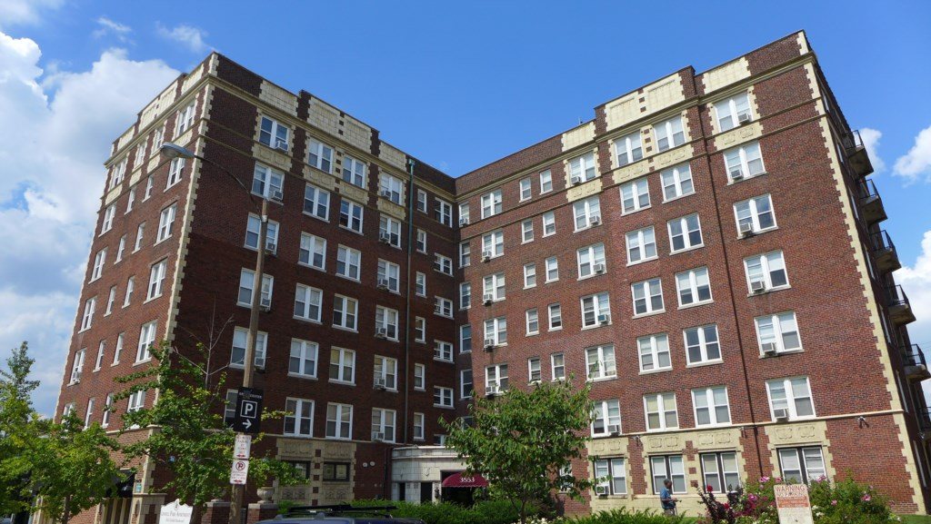 Lindell Park Apartments, across the street from St. Louis University and home to the Abbey.