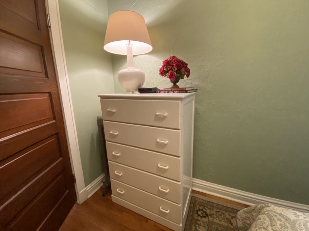 Chest of drawers for your belongings in bedroom of Adler Suite.