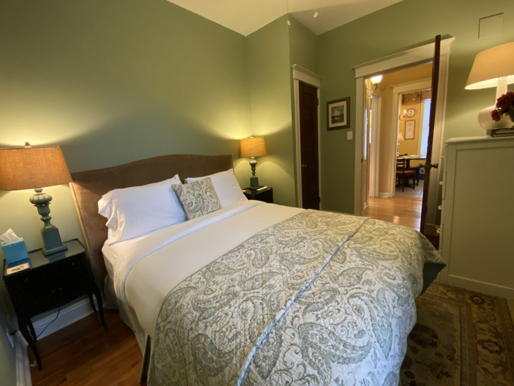 You'll enjoy a sumptious sleep on the Adler Suite's soft-yet-firm Queen-sized bed.