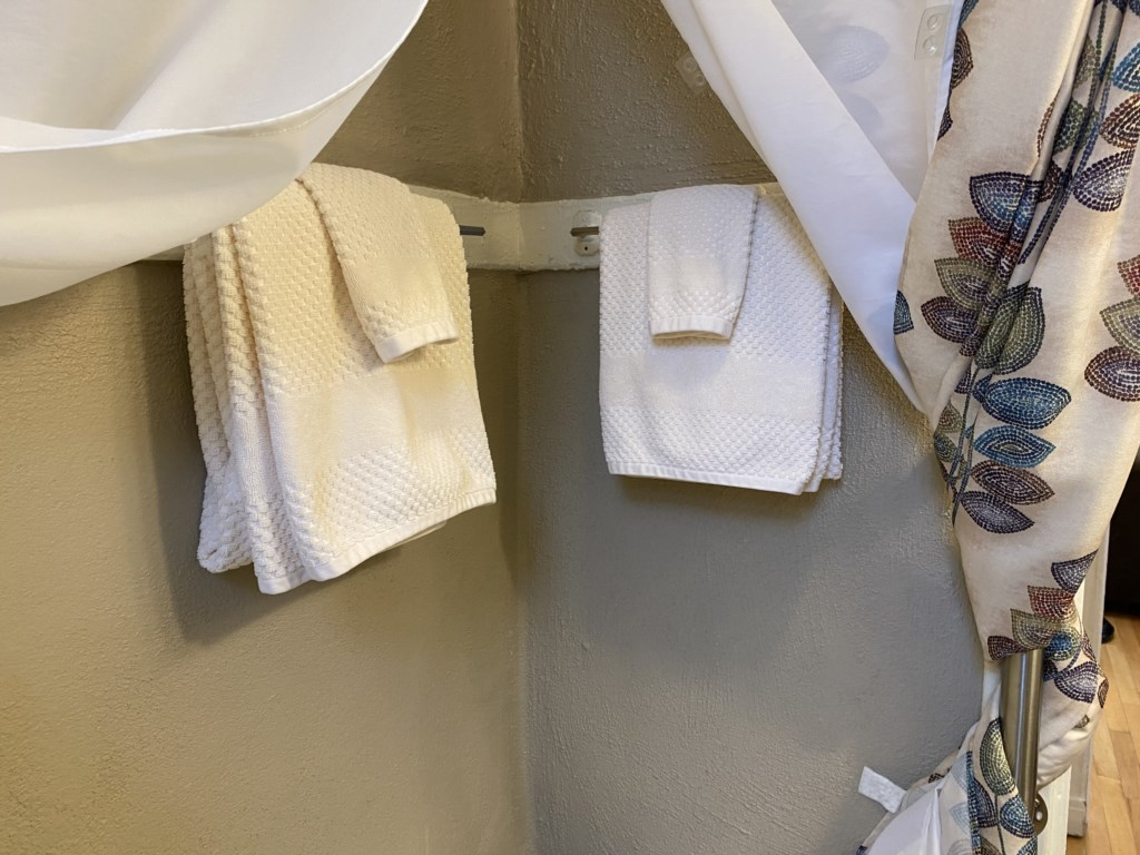 Soft and absorbent towels in the Adler Suite.