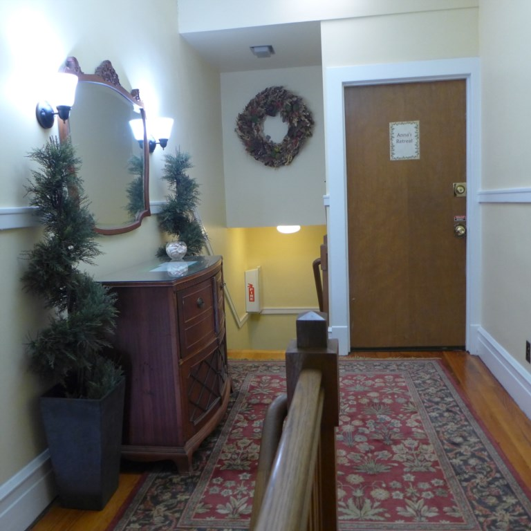 Anna's Retreat is on the second floor, and accessible only by stairs.