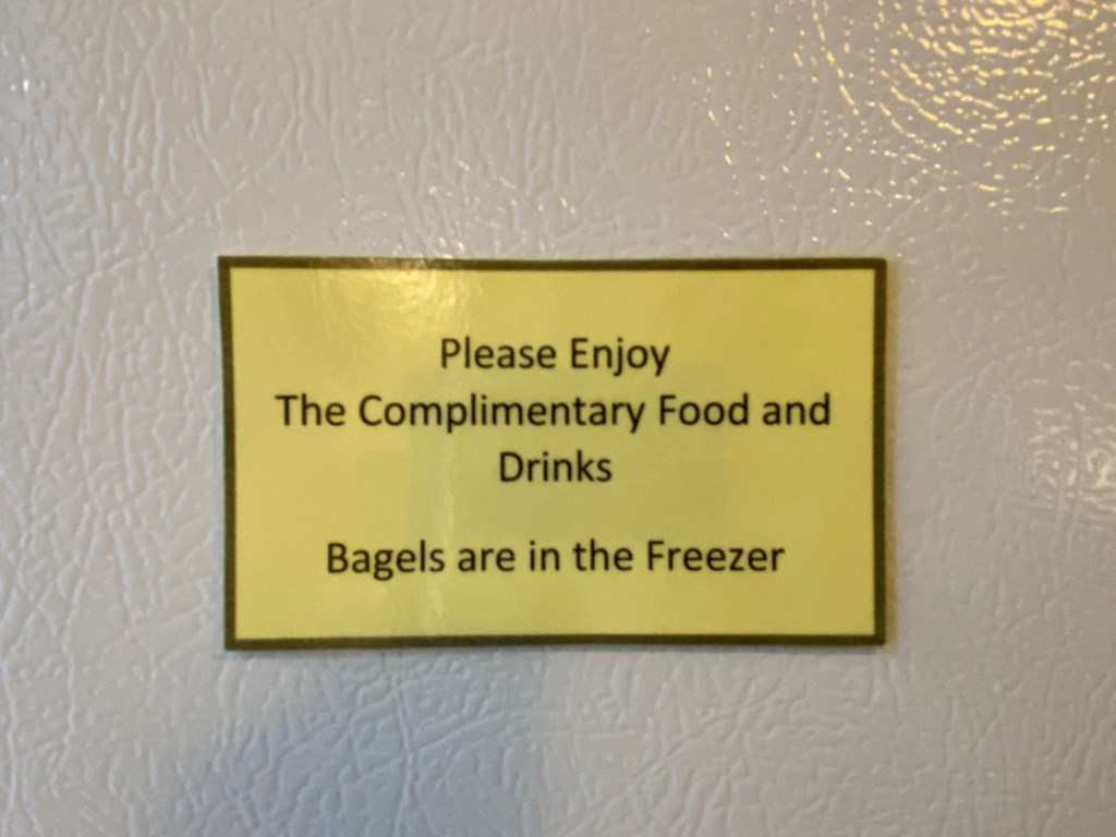 Bagels in freezer of Beckmann.