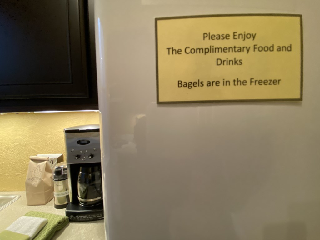 Bagels in freezer of Bennett.