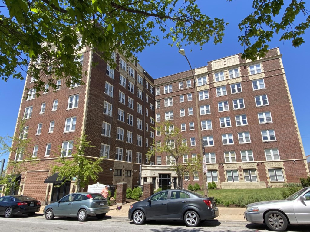 Lindell Park Apartments, across the street from St. Louis University and home to the Chopin.