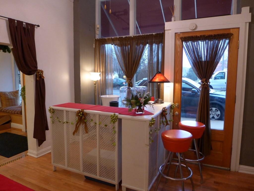 Bar setup at Center