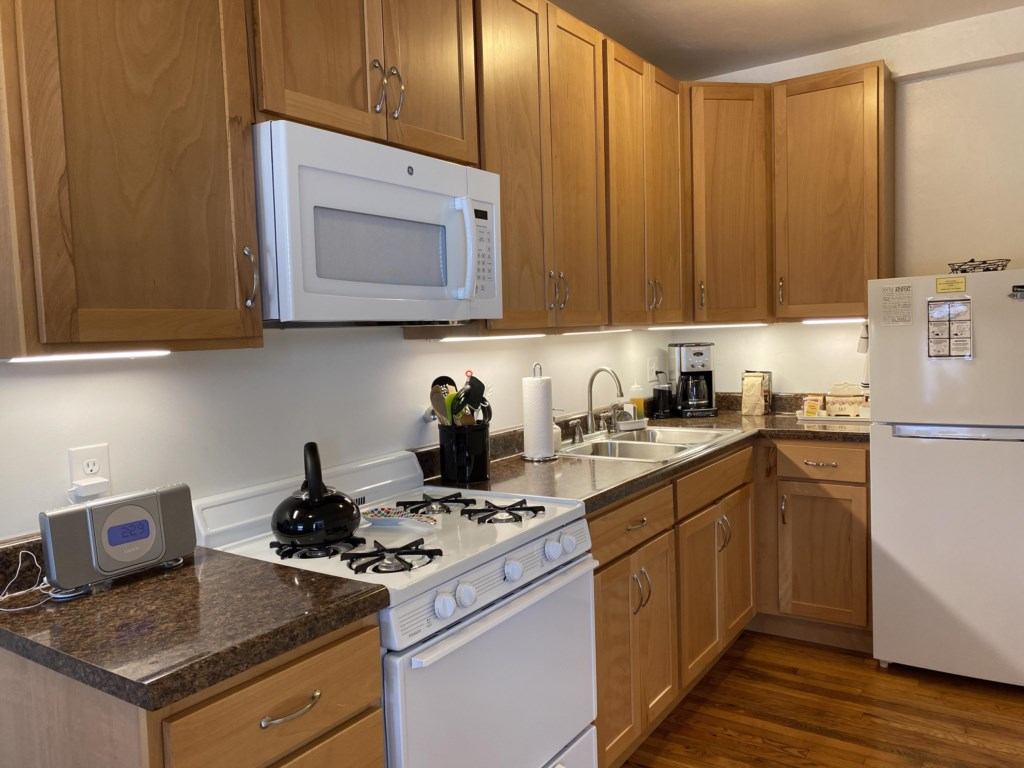 Kitchen of the Emma Sale Suite.
