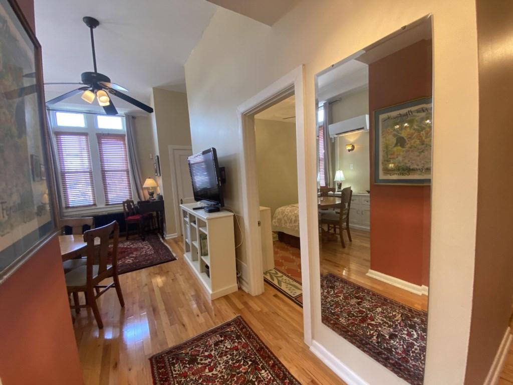 The Jessie Benton Suite has a full-length mirror.