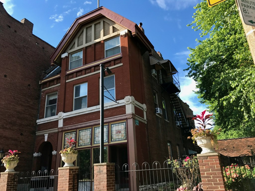 Ullrich Haus, home to the delightfully idiosyncratic Schreiber Suite in St. Louis, Missouri (USA).