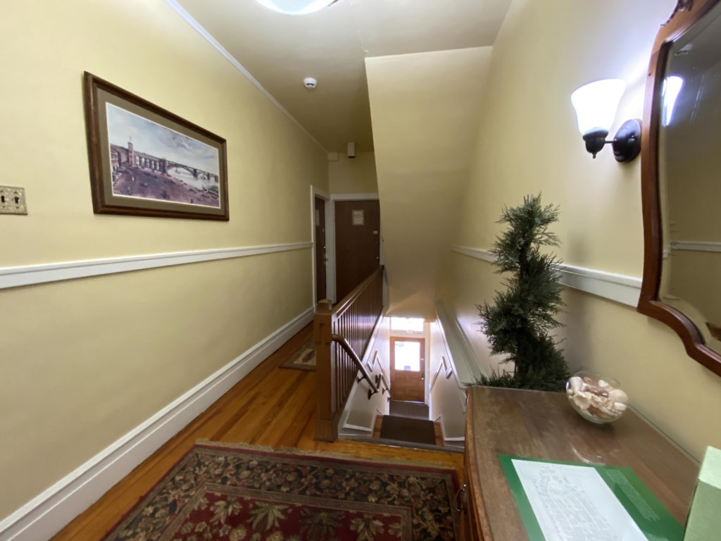 The Schreiber Suite is on the second floor, and accessible only by stairs.