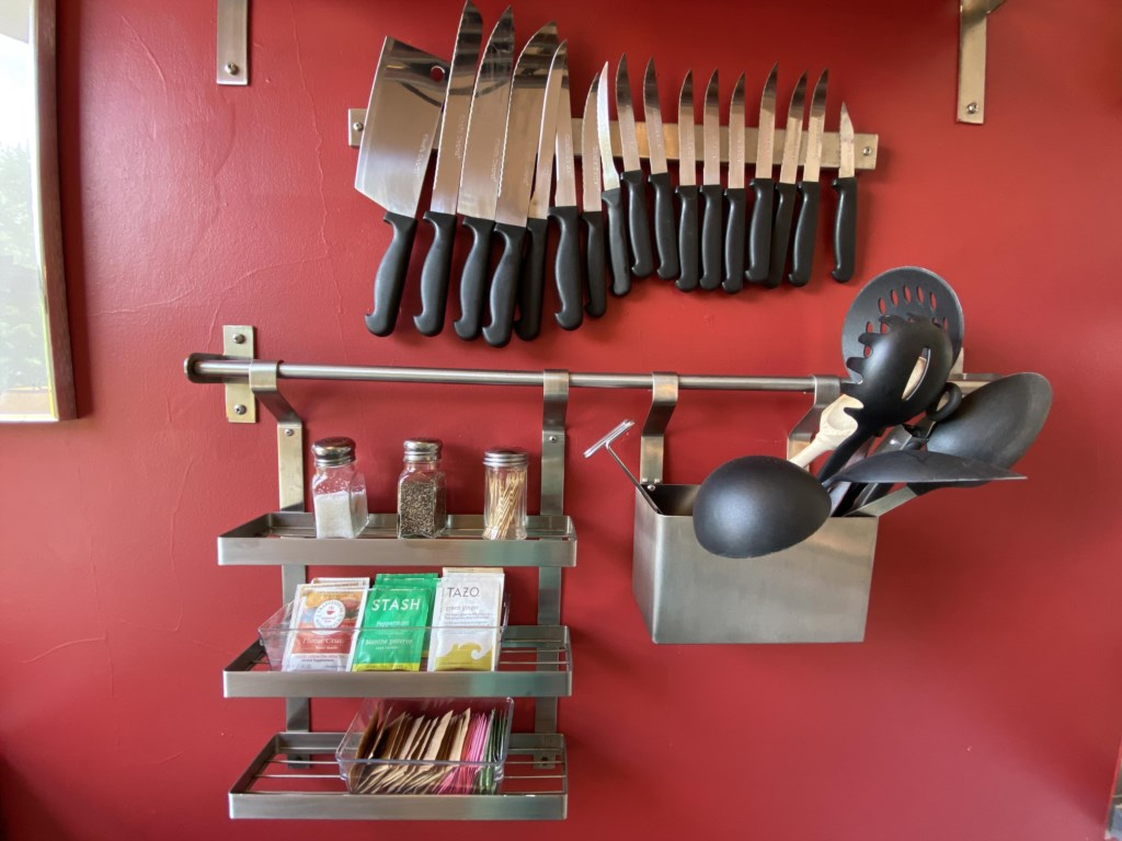 Teas are here, along with an impressive selection of kitchen supplies.