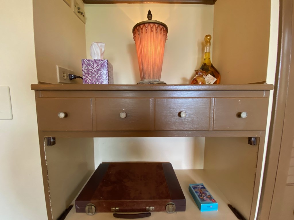 Nooks hold treats in the Schreiber Suite.