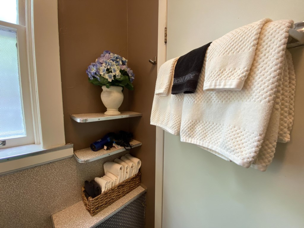 The Schreiber Suite is generously stocked with plush towels.