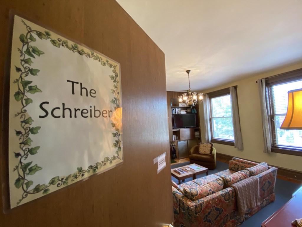 Entry door to the Schreiber Suite.