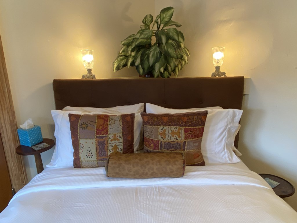 The Shaw Guest Suite's top-quality Queen-sized bed was proudly manufactured in St. Louis.