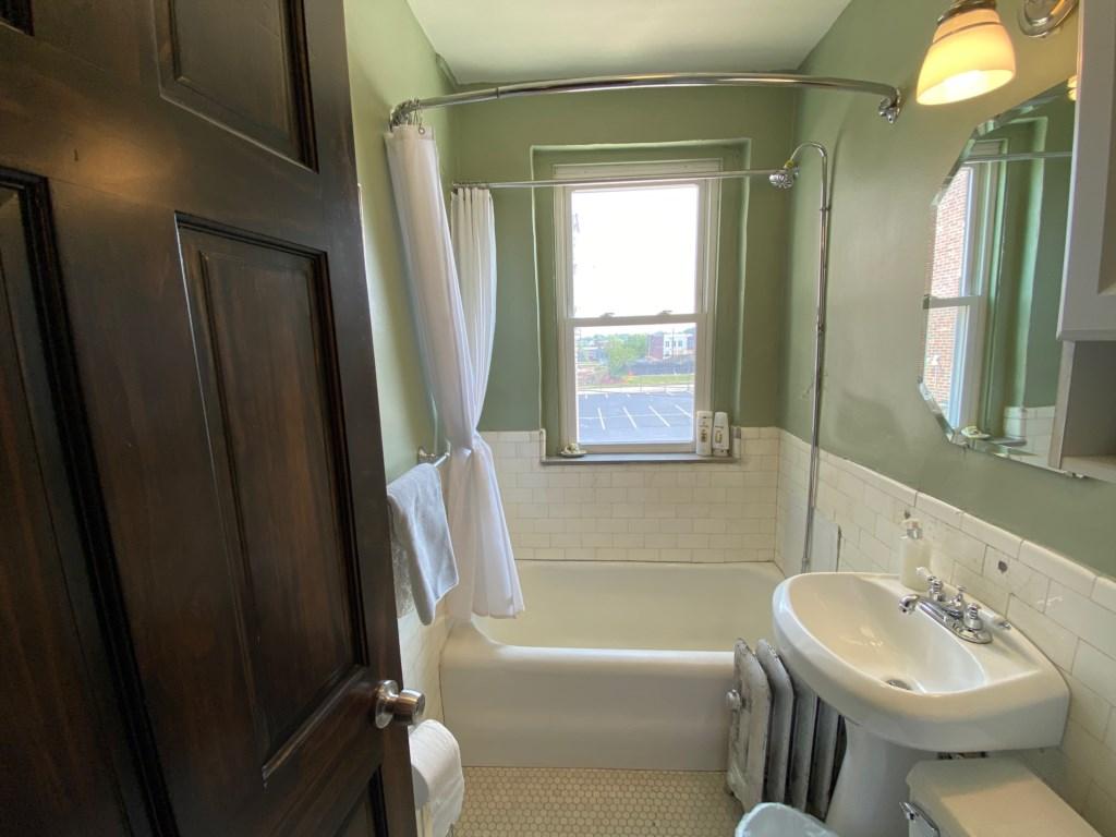 Take a shower or soak in the bathtub.