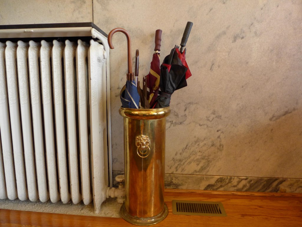 Umbrella stand in the Ullrich Suite. We hope you'll want for nothing during your stay.