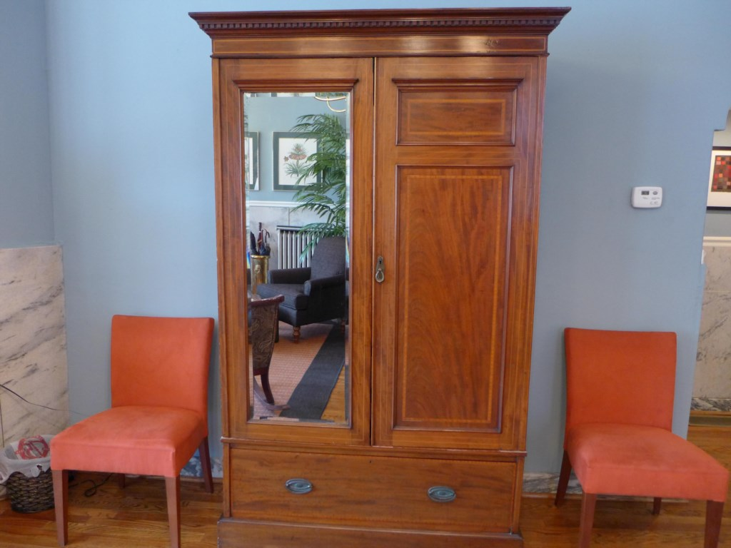 Chifforobe in the Ullrich Suite offers storage for your belongings and a full-length mirror.