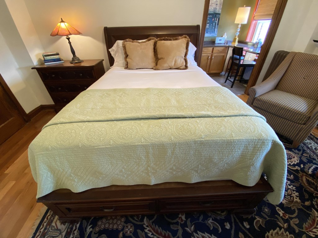 The Westminster features a Queen-sized bed.
