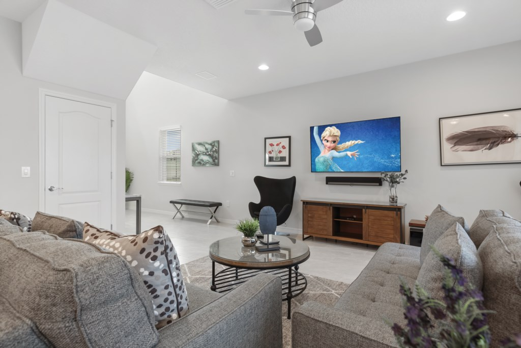View 4 of beautiful living room area with flat screen TV