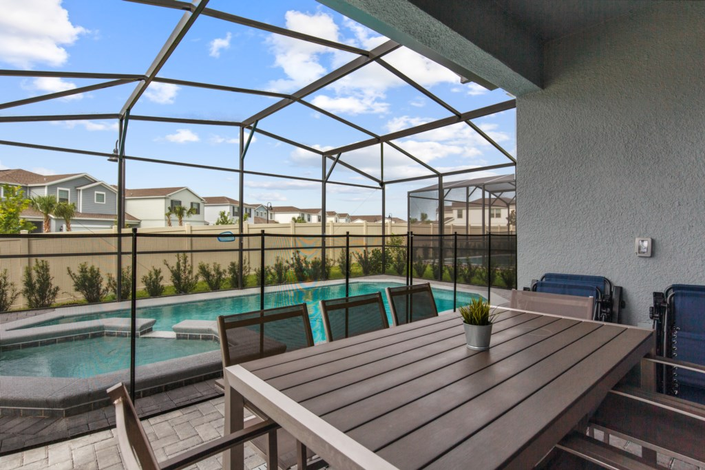 Oustanding pool deck and patio furniture
