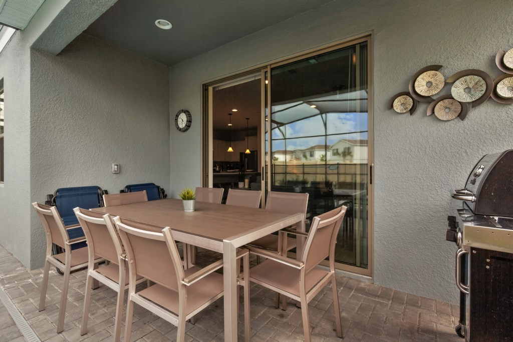 View 2 of outstanding patio furniture and access to living room area