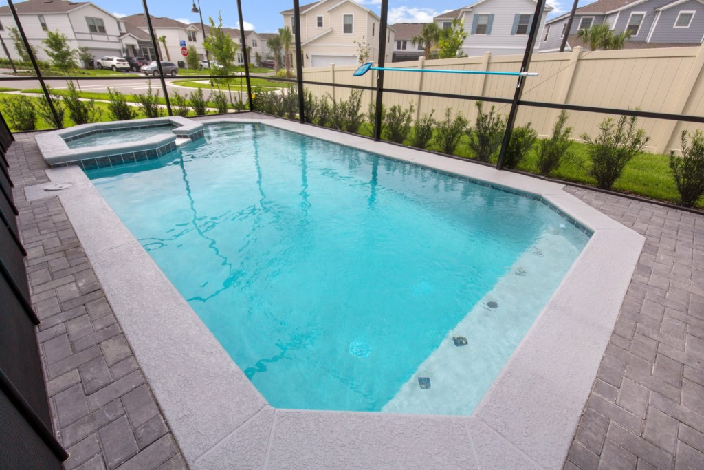 View 4 of luxurious pool and spa