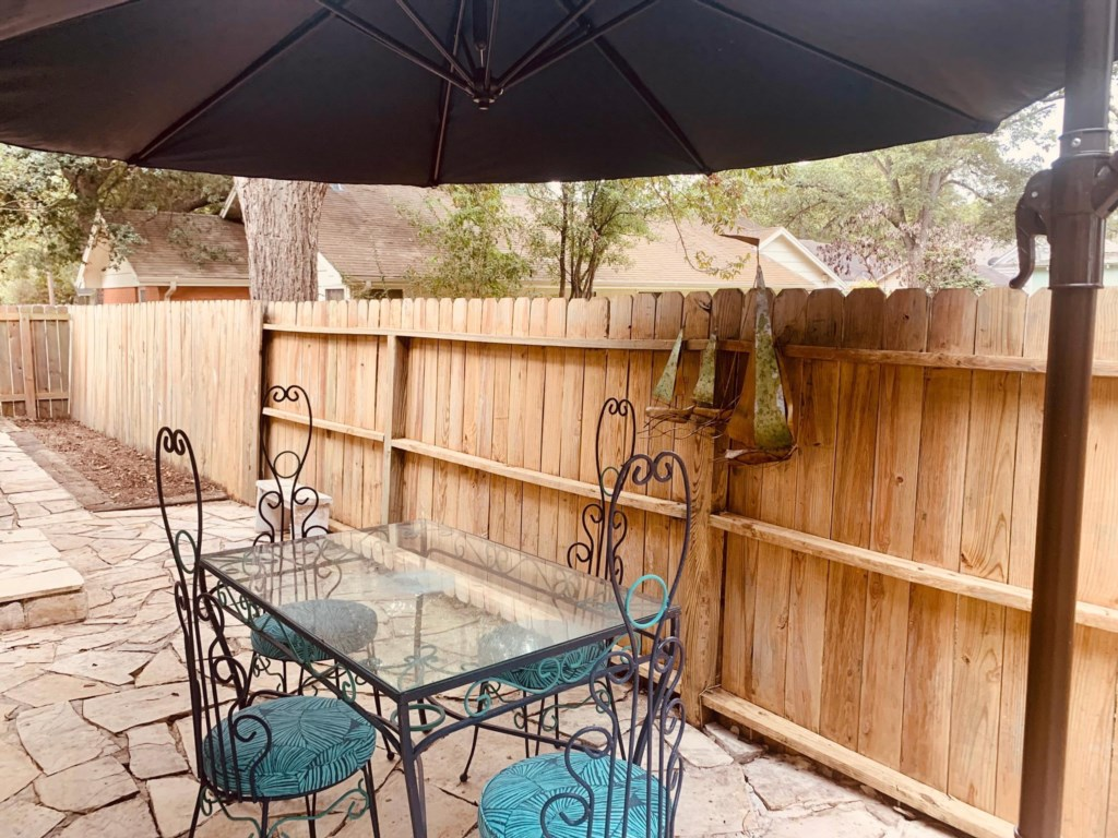 Private outdoor seating