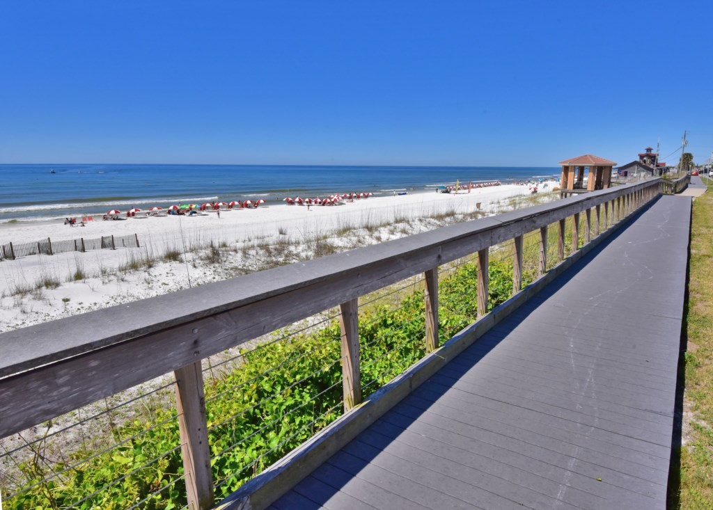 Public Boardwalk access to the Pristine Sandy Barracuda St Beach