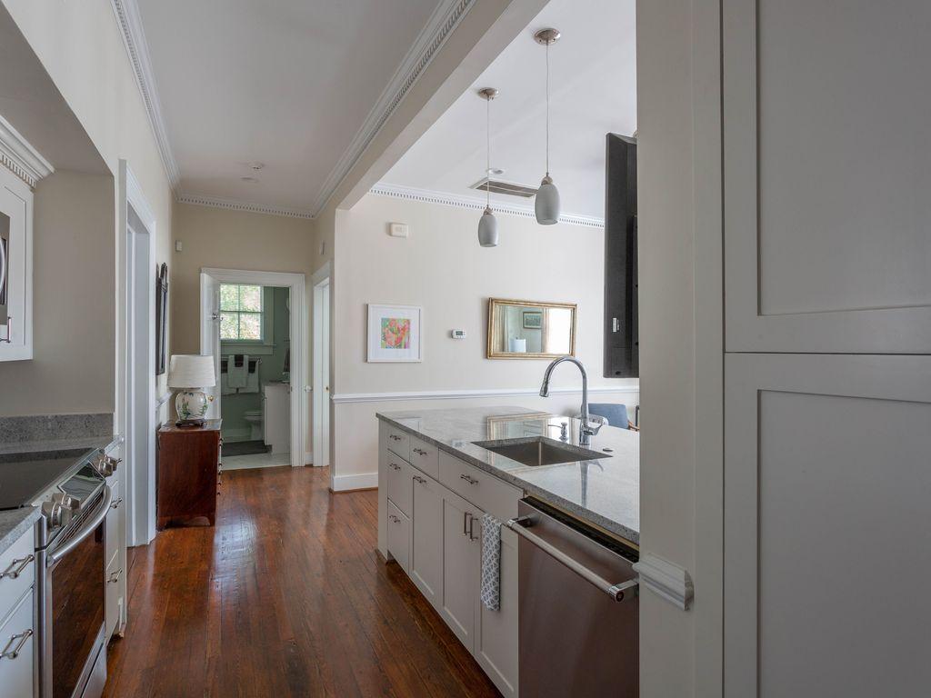 Sleek, convenient kitchen with all new appliances.