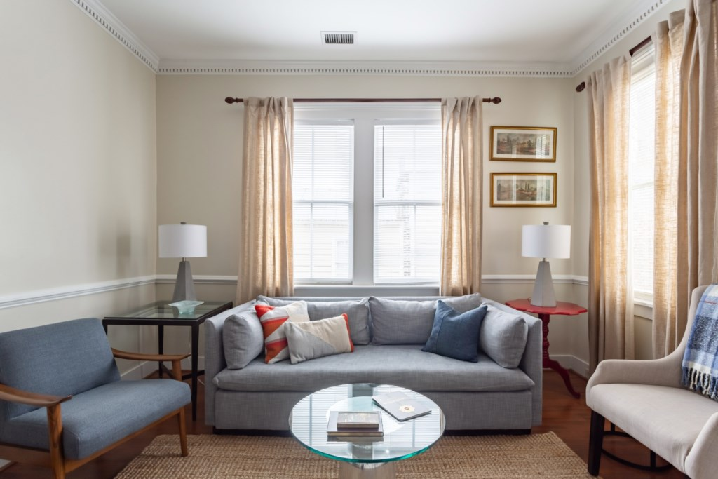 Livingroom with wonderful West Elm Queen Sleeper Sofa