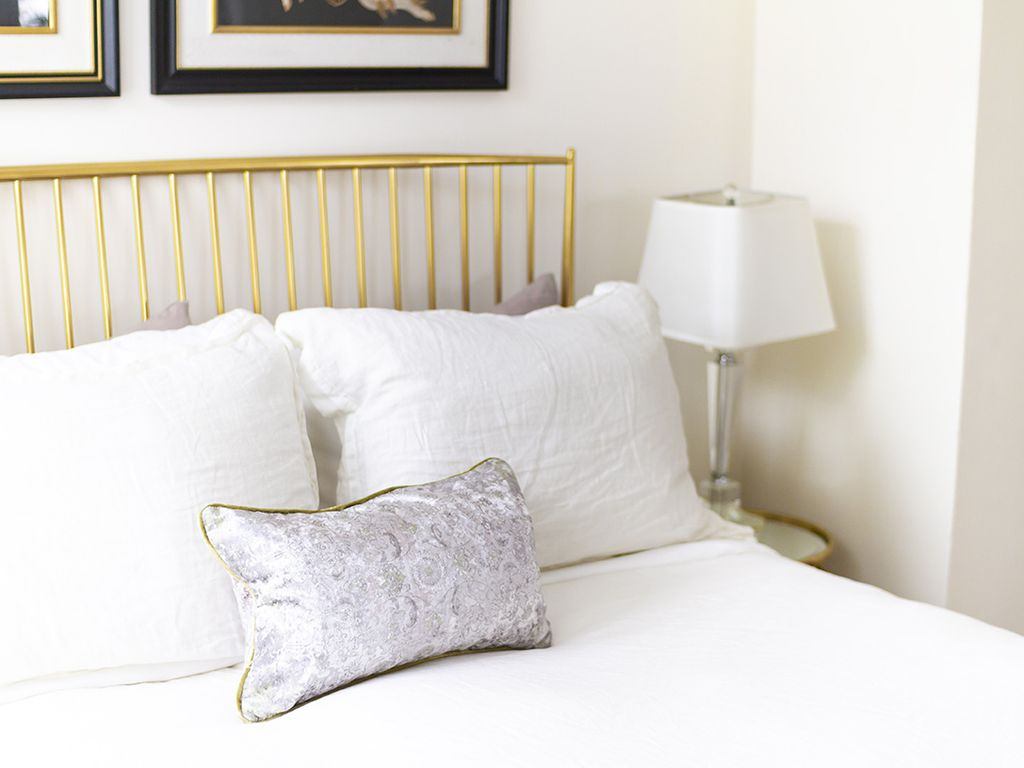 Stella brass bed. Lovely and comfortable.