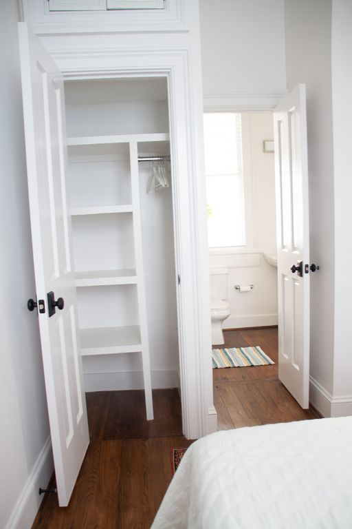 "Apt is full of ""closets that work"".  Bedroom (1) with en-suite bath."