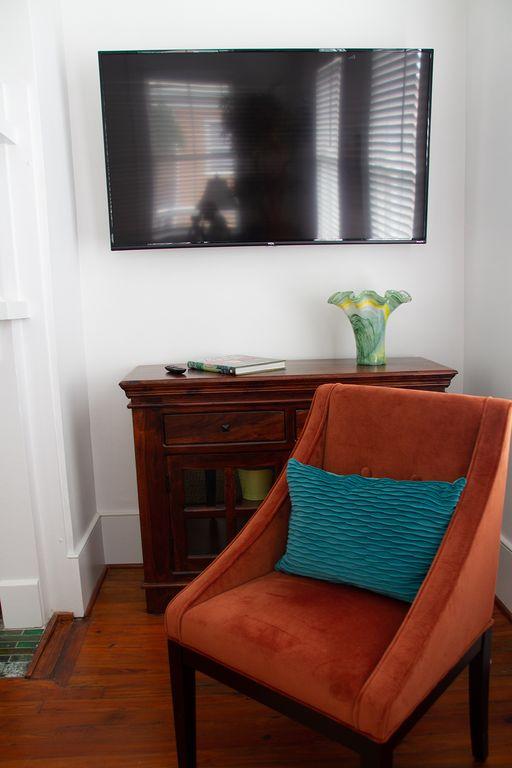 Smart tv in sitting room.