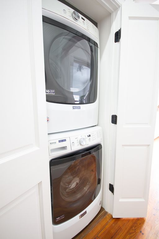 New stack washer/dryer.