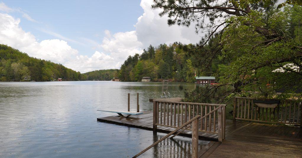 Dock when lake is full