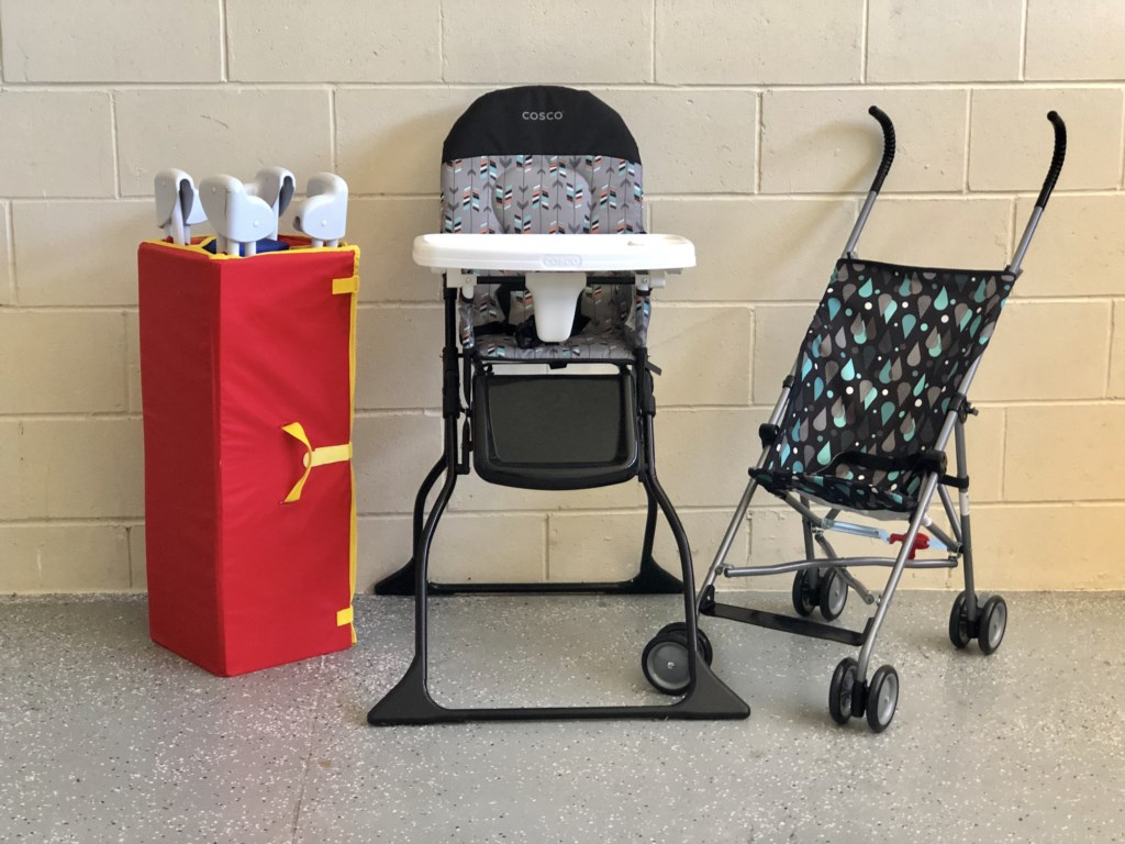 Pack n Play, Highchair and Stroller available for use!