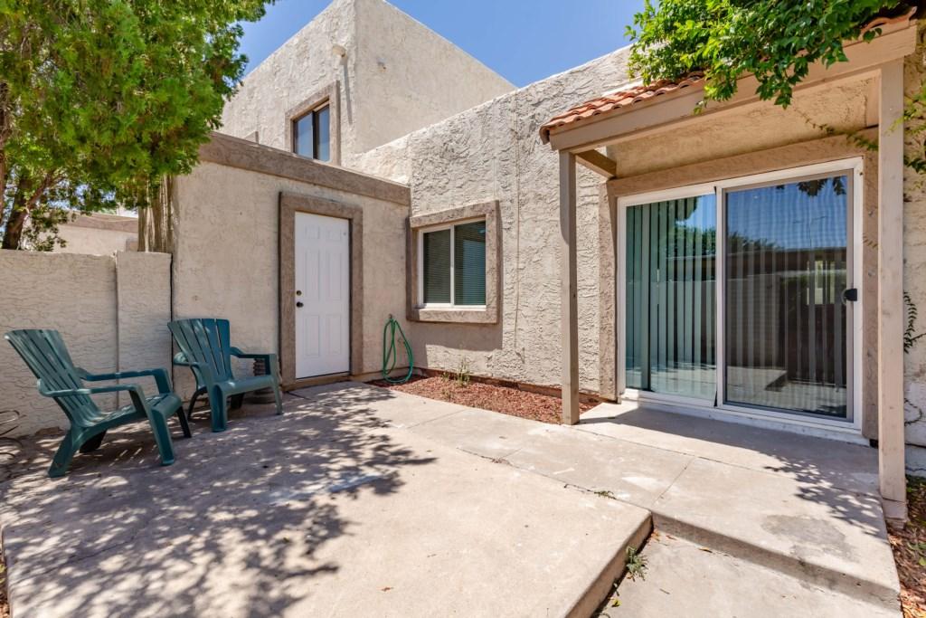 Private patio to enjoy the Arizona Sunshine