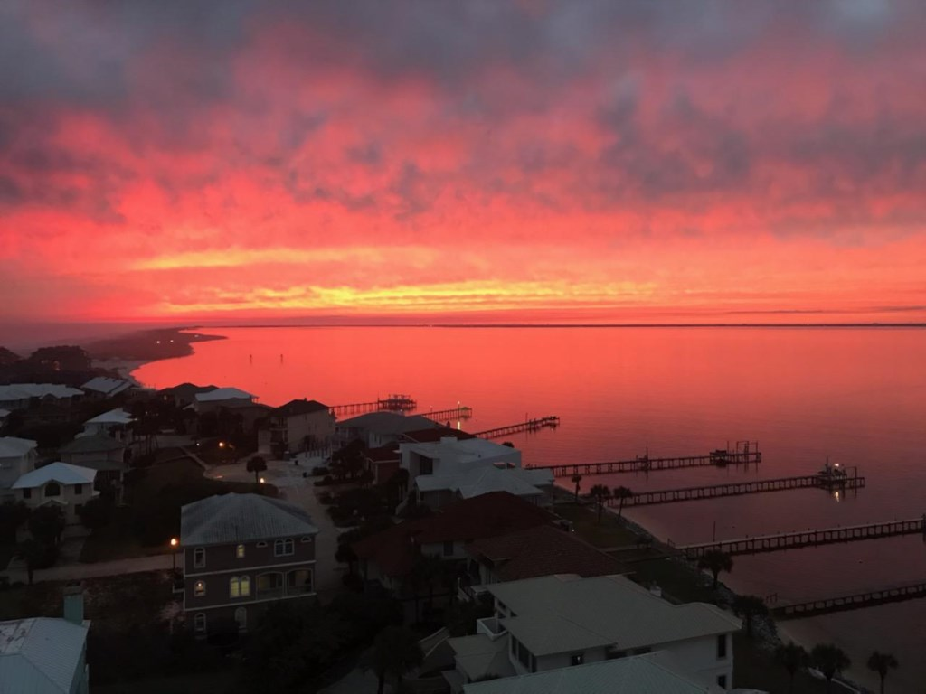 Sunrises and sunsets....two things you don't want to miss while you're here.