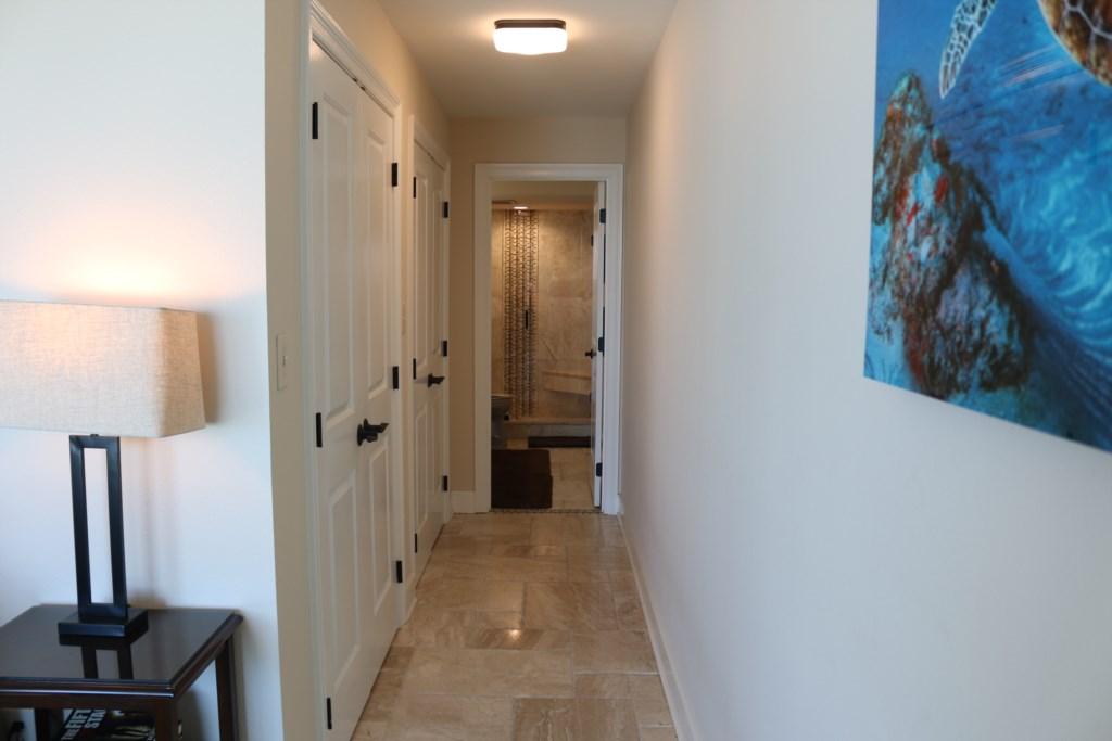 Hallway to ensuite Master bathroom