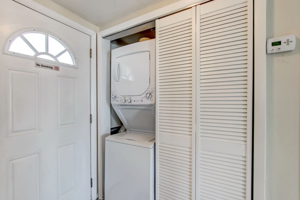 Washer and Dryer inside unit