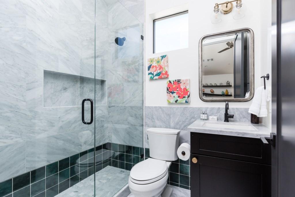 6th bedroom en-suite bathroom with walk in shower