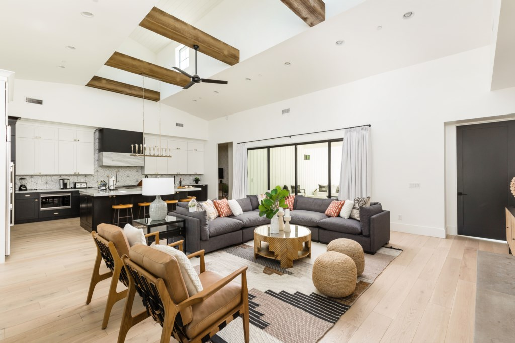 Open concept living space! Perfect for groups