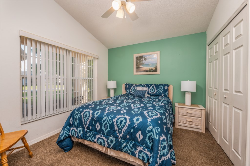 Fantastic full size bed with flat screen TV