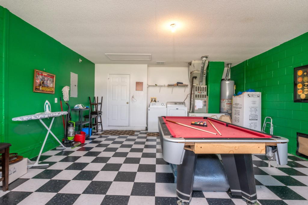 View 2 of outstanding game room with pool table